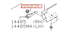 SILENTBLOC INFERIEUR FIXATION INTERCOOLER R32 R33 R34 GTR NISSAN