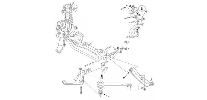 Silentbloc Renforce Tirant Carrossage Avant Interieur Z32 R32 Nismo