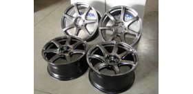 "SET 4 JANTES T7R 18"" SILVER WORK WHEELS"