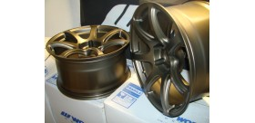 "SET 2 JANTES T7R 18"" BRONZE WORK WHEELS"