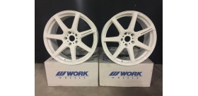 "SET 2 JANTES T7R 19"" 5X112 BLANC WORK WHEELS"