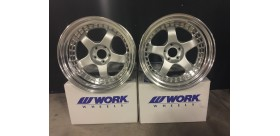 "SET 2 JANTES MEISTER S1 18"" WORK WHEELS"