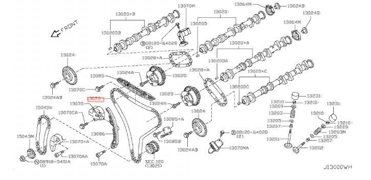 CHAINE PRINCIPALE DISTRIBUTION GTR R35 NISSAN