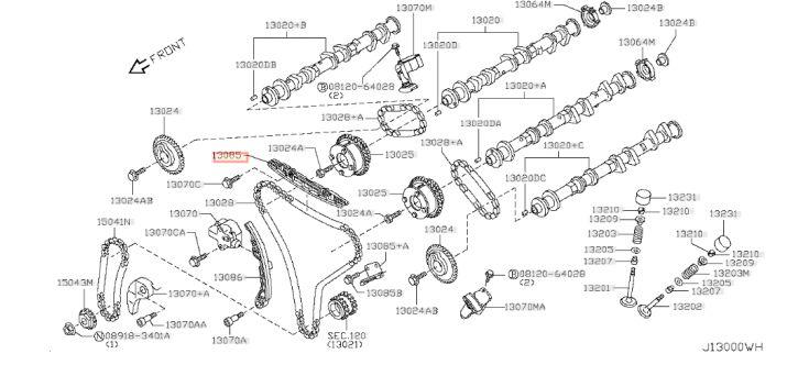 GUIDE CHAINE DISTRIBUTION GTR R35 NISSAN