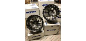 "SET 2 JANTES EMOTION M8R 19X10.5"" ET12 5X114 WORK WHEELS"