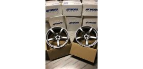 "SET 2 JANTES EMOTION T5R 19X10.5"" ET25 5X114 WORK WHEELS"