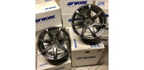 "SET 2 JANTES T7R 10.5X18"" ET22 5X114 SILVER WORK WHEELS"