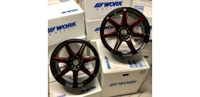 "SET 2 JANTES T7R 18"" ET30 5X114 KURENAI WORK WHEELS"