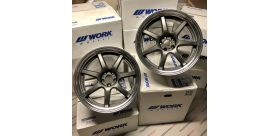 "SET 2 JANTES T7R2P NISSAN GTR 20"" WORK WHEELS"