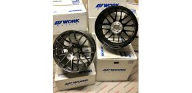 "SET 2 JANTES EMOTION M8R 19X10.5"" ET22 5X114 WORK WHEELS"