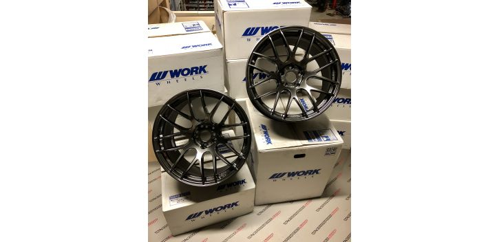 "SET 2 JANTES EMOTION M8R 18X9.5"" ET30 5X114 WORK WHEELS"