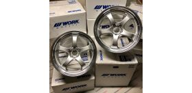 "SET 2 JANTES S1R NISSAN GTR 20""X9.5"" ET30 WORK WHEELS"