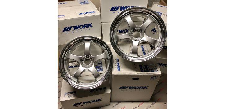 """SET 2 JANTES S1R NISSAN GTR 20""""X9.5"""" ET30 WORK WHEELS"""