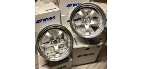 "SET 4 JANTES S1R NISSAN GTR 20"" WORK WHEELS"