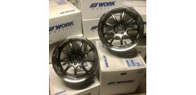 "SET 2 JANTES D9R 18""x9.5"" ET12 5x114 BRONZE (AHG) R33 R34 GTR WORK WHEELS"