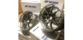 "SET 2 JANTES D9R 18""x9.5"" ET32 5x114 GRIS (GTS/RC) WORK WHEELS"