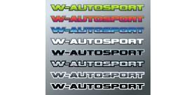 AUTOCOLLANT W-AUTOSPORT IMPRIME