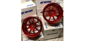 "SET 2 JANTES D9R 18x9.5"" ET12 5X114 WORK WHEELS"