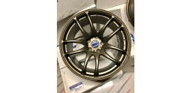"SET 2 JANTES CR KIWAMI 18""x9.5"" ET38 5X114 BRONZE (AHG) WORK WHEELS"