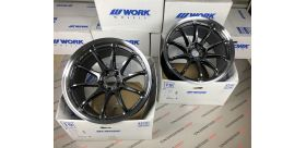 "SET 2 JANTES EMOTION ZR10 19"" X 10.5"" ET15 5x114.3 GTKRC WORK WHEELS"
