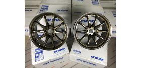 "SET 2 JANTES EMOTION ZR10 19"" X 9.5"" ET30 5x114.3 GTKRC WORK WHEELS"