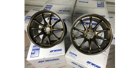 "SET 2 JANTES EMOTION ZR10 18"" X 9.5"" ET12 5x114.3 HGLC WORK WHEELS"