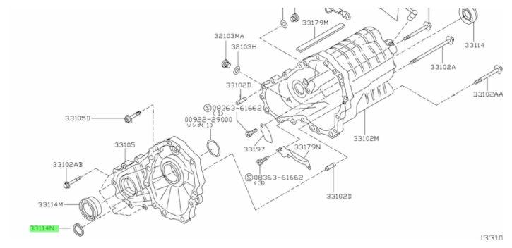 JOINT SPI BOITE DE TRANSFERT R32 R33 R34 GTR
