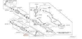 ROTULE DIRECTION GAUCHE  R35 GTR NISSAN