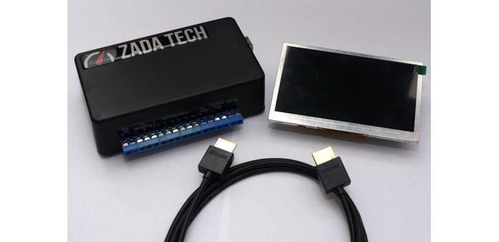 "AFFICHAGE JAUGES MULTIFONCTIONS HD 4.3"" ZADA TECH"