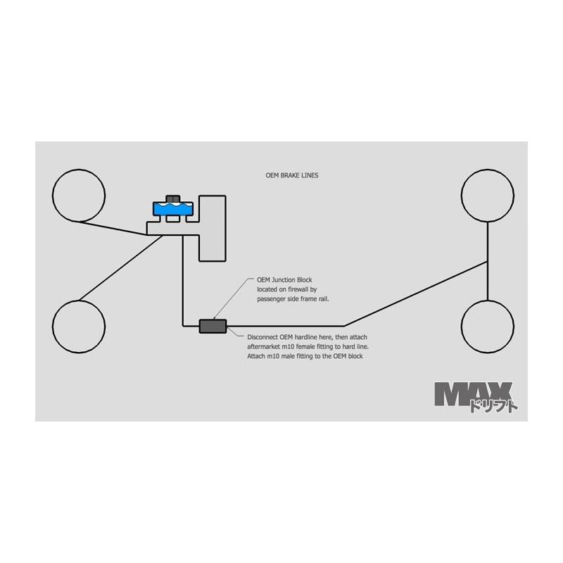 kit raccordement frein a main hydraulique max. Black Bedroom Furniture Sets. Home Design Ideas