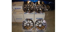 "SET 4 JANTES CR2P NISSAN GTR 20"" WORK"
